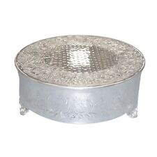 "Single Tiered 16"" Polished Metal Round Cake Stand - 1 Tier"