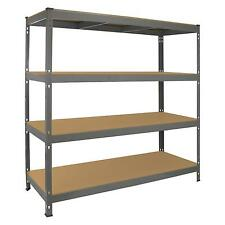 Garage Racking Heavy Duty Shelving 4 Tier Unit Boltless Steel Bay Metal Shelves