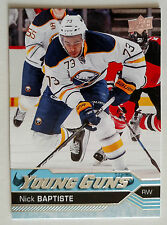 NICK BAPTISTE 2016-17 UD Series 2 Young Guns Rookie #477 Buffalo Sabres RC