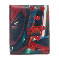AWESOME MARVEL'S DEADPOOL PRINT WITH SPIKEY STUDS WALLET *BRAND NEW*