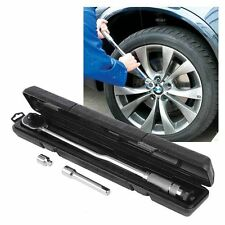 """Silverline 1/2"""" Drive Torque Wrench with 3/8"""" Socket Adaptor Adjustable 633567"""