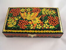 Storage Box Russian Khokhloma Hohloma Hand Painted
