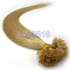 "New 16-26""100s Fusion Pre Bonded U/Nail Tip Remy Human Hair Extensions Straight"