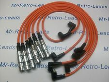 ORANGE 8MM HIGH PERFORMANCE IGNITION LEADS WILL FIT. VW GOLF CORRADO VR6 PASSAT