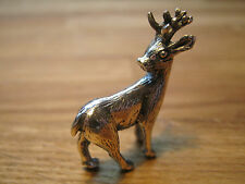 Very Cute Collectable Solid Silver Statue Of A Reindeer - 925