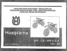 Husqvarna Parts Manual Book 1999 WR 125 USA, WR 125 & CR 125