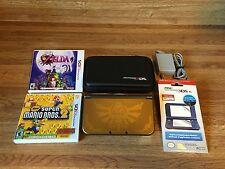 New Nintendo 3DS XL GOLD Zelda Hyrule Edition Handheld System Bundle + Games Lot