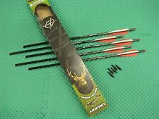 "Barnett 20"" Headhunter Carbon Crossbow Arrows with Field Points 5 Pack #16075"