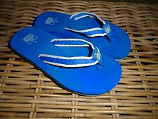 REEF BRAZIL MARYANN™ WOMENS SKINNY SANDALS FLIP-FLOPS SEA BLUE WHITE RARE NWOT!