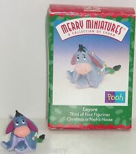 Disney Eeyore Hallmark Merry Miniatures Ornament 1999 Vintage Pooh Boxed