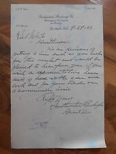 Antique 1903 Southwestern Brokerage Co Commission Los Angeles California letter