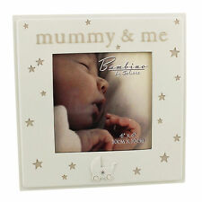 "Bambino Cream Unisex Baby Photo Frame with Stars & Pram - ""Mummy & Me"""