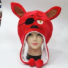 NEW FNAF Five Nights At Freddy's Foxy Red Stuffed Plush Cap Cosplay Hat