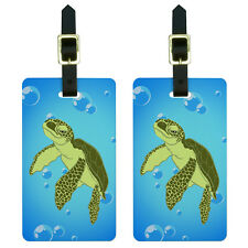 Sea Turtle - Ocean Cute Luggage Suitcase Carry-On ID Tags Set of 2