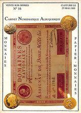 CATALOGUE MONNAIES PAPIER MONNAIE COINS MUNZE MONEY PAPER 1989
