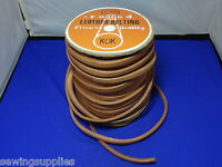 "SEWING MACHINE MOTOR DRIVE BELT, REAL LEATHER  3/8"", 50"" LONG WITH FIXING CLIPS"