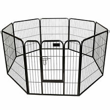 Puppy Dog Cat Pet Playpen Heavy Duty Metal Exercise Fence Hammigrid 8 Panel 32""
