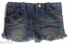 "Frayed Denim Patriotic Shorts made to fit 18"" American Girl Doll Clothes"