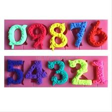 Numbers Lollipop Silicone Mold Fondant Trays Cake Cookies Baking Mould Tool New