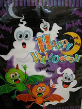 "halloween party /loot bags6.5"" x 9"" spooky ghosts,bats and ghouls 16 in a pack"