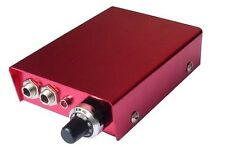 RED PROFESSIONAL TATTOO POWER SUPPLY for machine gun pedal & clip cord UK