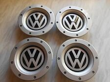 SET OF 4 VW WHEEL CENTRE CAPS FOR 9 +12 SPOKE ALLOYS.147mm.REAR FITMENT 56-58mm