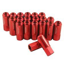 20PC 14X1.5MM 60MM EXTENDED FORGED ALUMINUM TUNER RACING LUG NUT RED