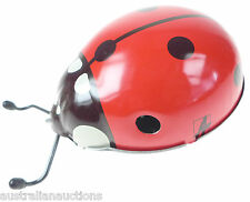 Kovap - Large Wind up Tinplate Big Ladybug  Metal Toy Edge Detector CE Eurotoys
