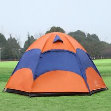 New Camping Tent 5-8 Person 4 Season Double Layer Sunshade Travel Hiking Tent