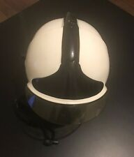 CGF GALLET GENUINE FIREMANS HELMET USED WHITE SIZE 53-60 MODEL F1S12