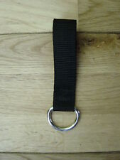STAINLESS STEEL D RING ON WEBBING ( SECURITY, POLICE, PRISON, MILITARY )