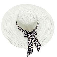 Fashion Women Beach Lady Derby Cap Wide Brim Floppy Fold Summer Sun Straw Hat