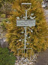 FORCELLA in metallo con un segno positivo su di esso, ideale per il giardino