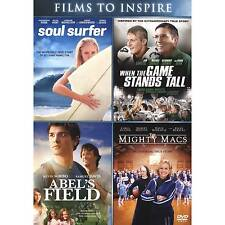 Abels Field/The Might Macs/Soul Surfer/When the Game Stands Tall (DVD, 2016)