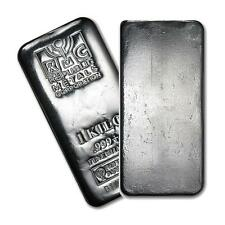 One piece 1 kilo 0.999 Fine Silver Bar Republic Metals Corporation Lot 7036