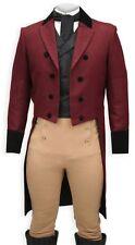 Custom Made Burgundy Men Tailcoat,Bespoke WineRed Men Tailcoat Tuxedo,Men Tuxedo