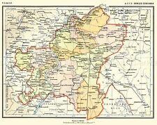 MAP 1928 SOVIET CEC VOLGA GERMAN AUTONOMOUS REGION REPLICA POSTER PRINT PAM0463