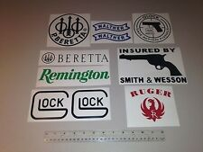 LOT 10 VINYL DECAL STICKER HUNTING GUNS ARMOR CARBINE AMMO FIREARM  HAMMER HUNT