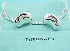 Authentic Tiffany & Co 1985 Elsa Peretti Sterling Silver Bean Clip-On Earrings