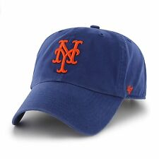 New York Mets 47 Brand Clean Up Adjustable Field Classic Blue Strap Hat Cap MLB