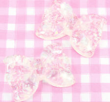 2 x X-LARGE Sparkle AB BOWS Cabochons Embellishments Deco Kawaii Craft - UK