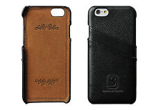 IPhone 6 rivestiti Custodia in Pelle con Slot Carte-Classic Nero-Simons di Londra