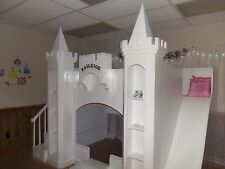 NEW CUSTOM PRINCESS KAILEIGH CASTLE LOFT/BUNK BED/INDOOR PLAYHOUSE FREE SHIPPING