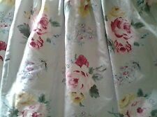 """Ralph Lauren Cottage Lane Floral King Bed Skirt 15"""" Drop Gathered Made in USA"""