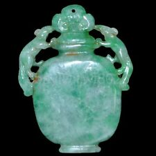 Old China Hand-carved Jadeite jade Nobility wear amulets Pendant collect~pixiu