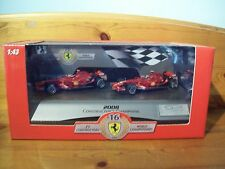 1/43 HOT WHEELS TWIN-SET ferrari f2008 Kimi Raikkonen Felipe Massa 2008 construire