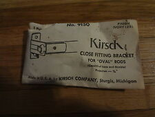 Kirsch 9150 Ivory Close Fitting Bracket for Oval Rods Curtain/Drapery Hardware