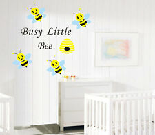 Busy little Bee honey Art Removable Vinyl Wall Stickers kids Nursery Decor