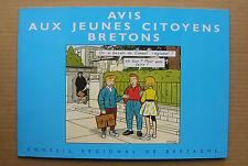 BD collective de CHALAND, AVRIL et STANISLAS - Avis aux jeunes citoyens bretons