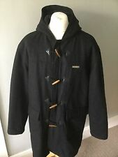 Burberrys Of London Blue Label Charcoal Full Hooded Duffle Coat L